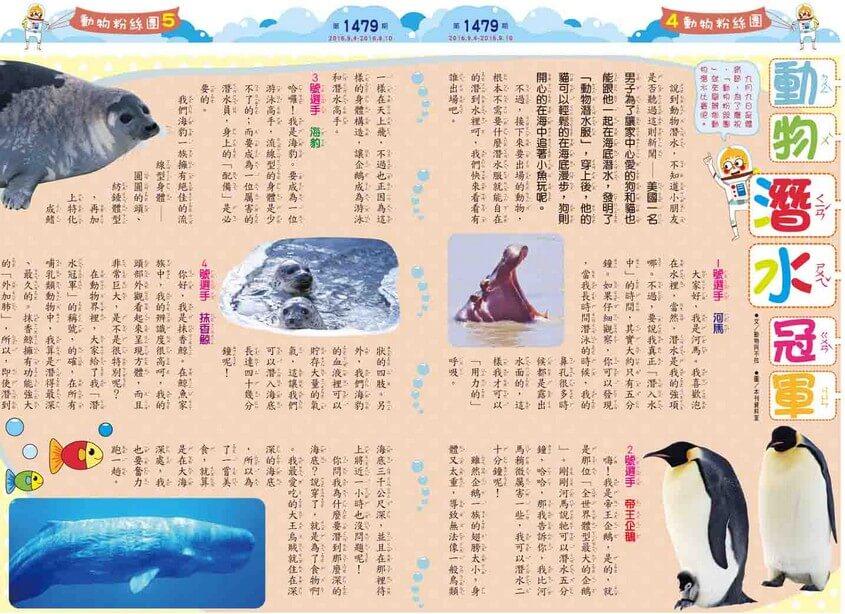 動物潛水冠軍  河馬帝王企鵝海豹抹香鯨