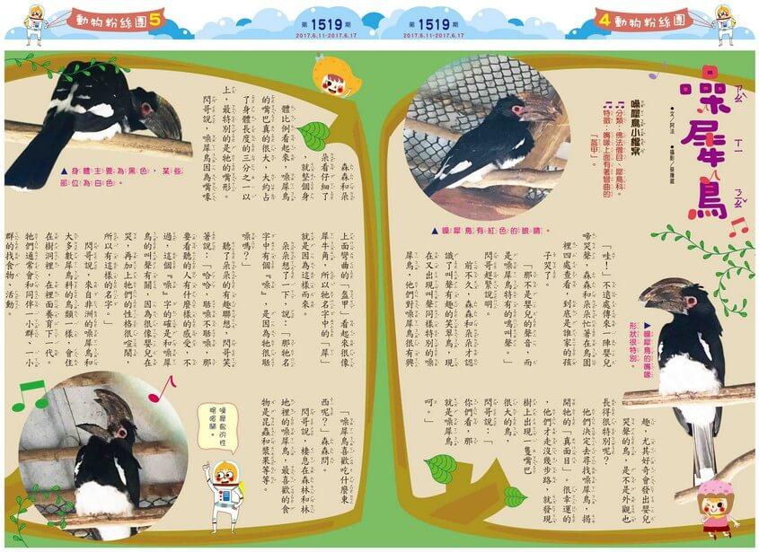 4-5 動物粉絲團 噪犀鳥