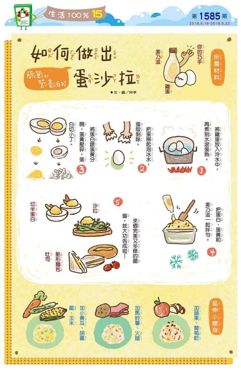 15 生活100% 如何做出簡單又營養的蛋沙拉