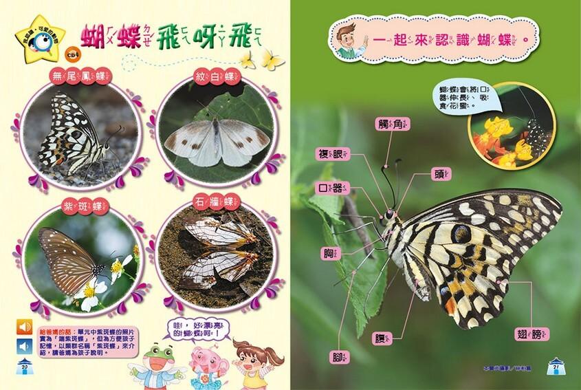 我認識‧可愛的動物-蝴蝶飛呀飛